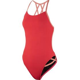 speedo Neon Freestyler Swimsuit Women, red/orange